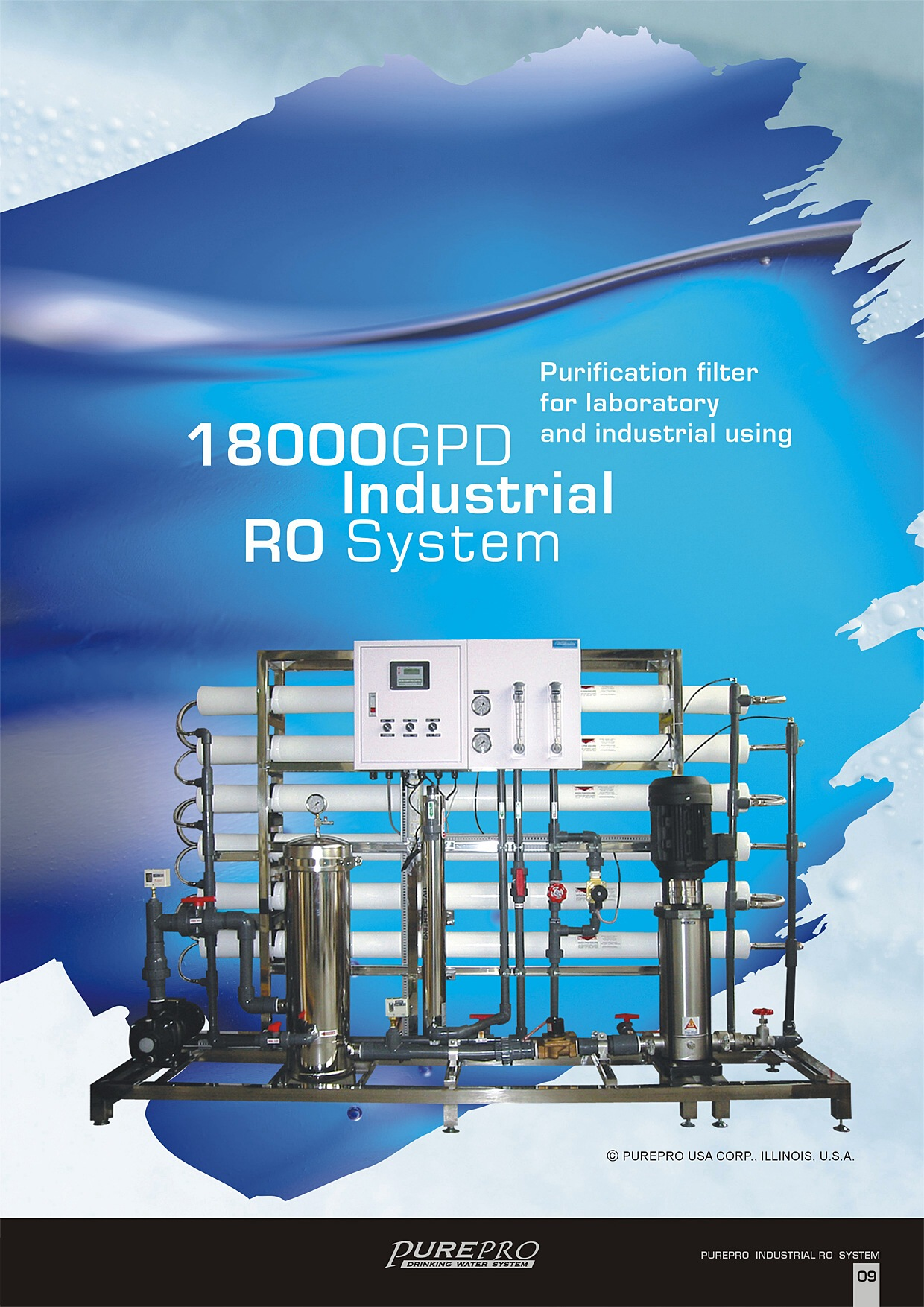 purepro industrial reverse osmosis water filter system